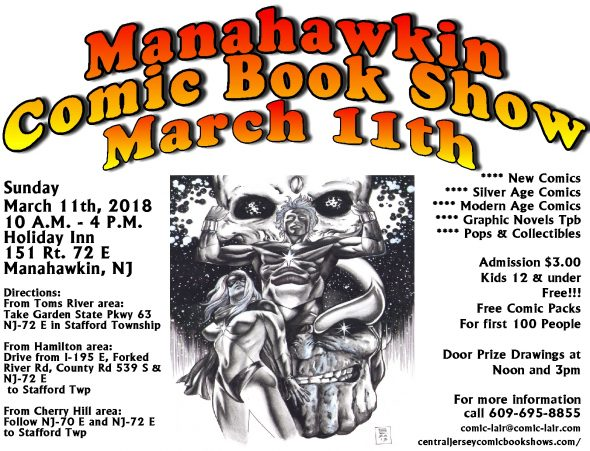 Manahawkin Comic Book Show March 11