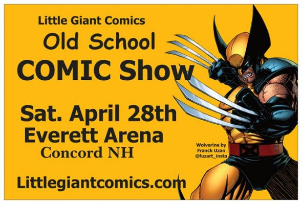 Little Giant Comics Old School COMIC SHOW in New Hampshire