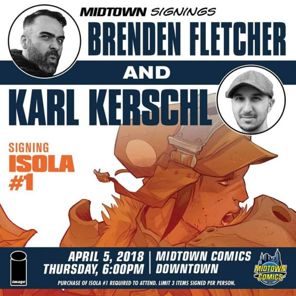 Free Comic Book Day Germany: NYC - Isola #1 Signing