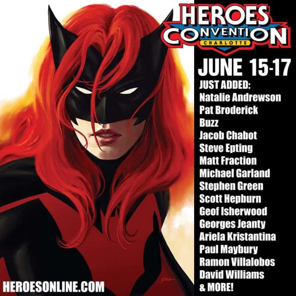 Free Comic Book Day Germany: HeroesCon 2018 Adds More Guests