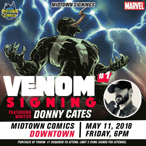 Free Comic Book Day France: NYC - Venom #1 Signing