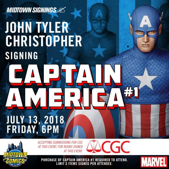 Free Comic Book Day Germany: NYC - Captain America #1 Variant Signing