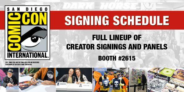 Dark Horse Comics Announces SDCC 2018 Signing & Panel Schedule