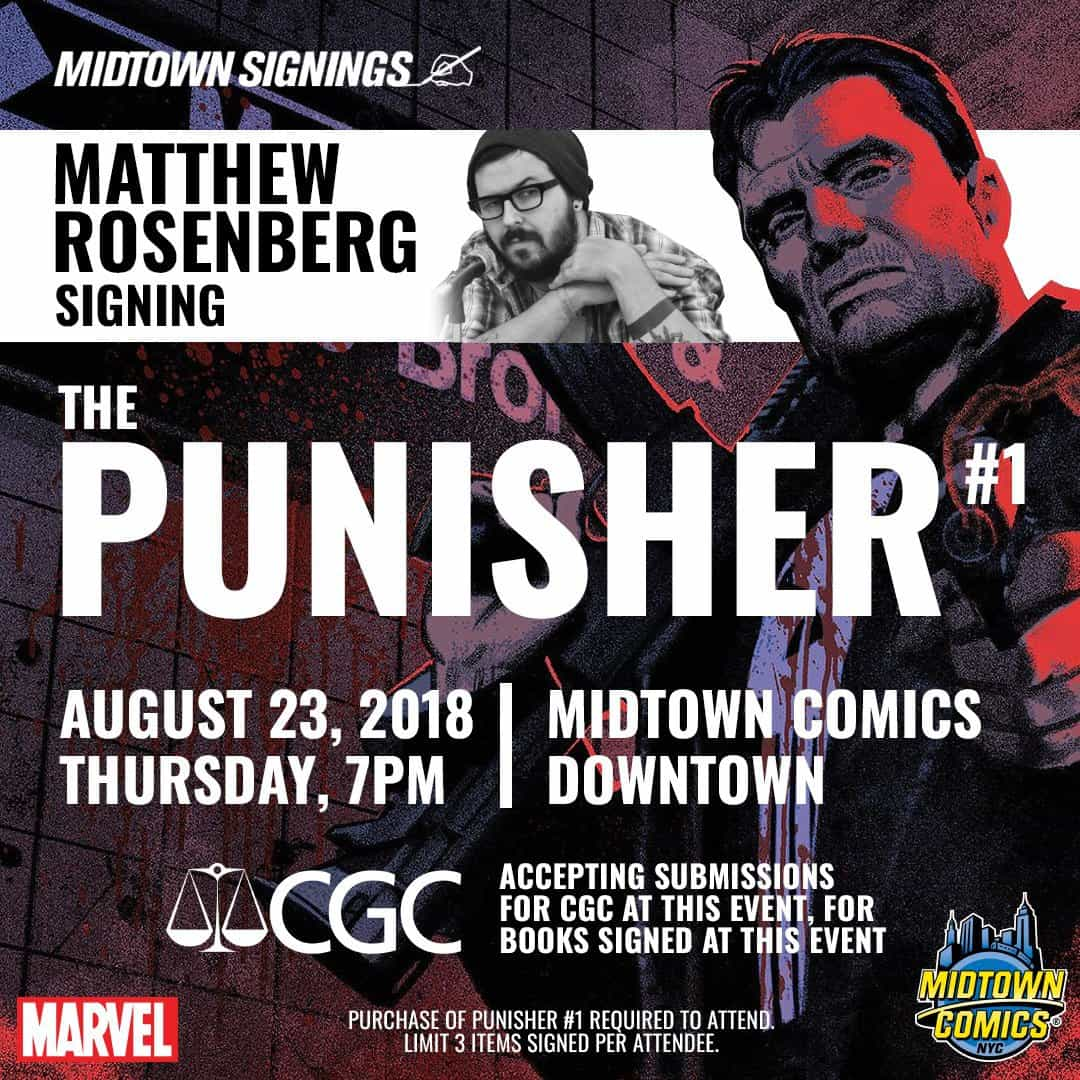 Free Comic Book Day Germany: NYC - Punisher #1 Signing