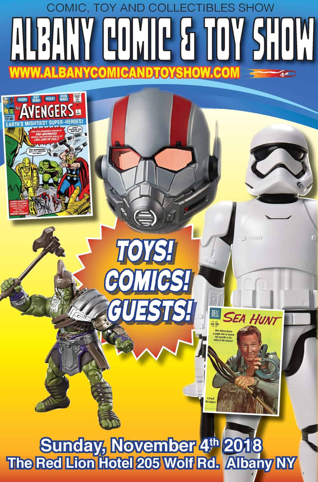 Albany Comic and Toy Show Sunday, October 21st, 2018