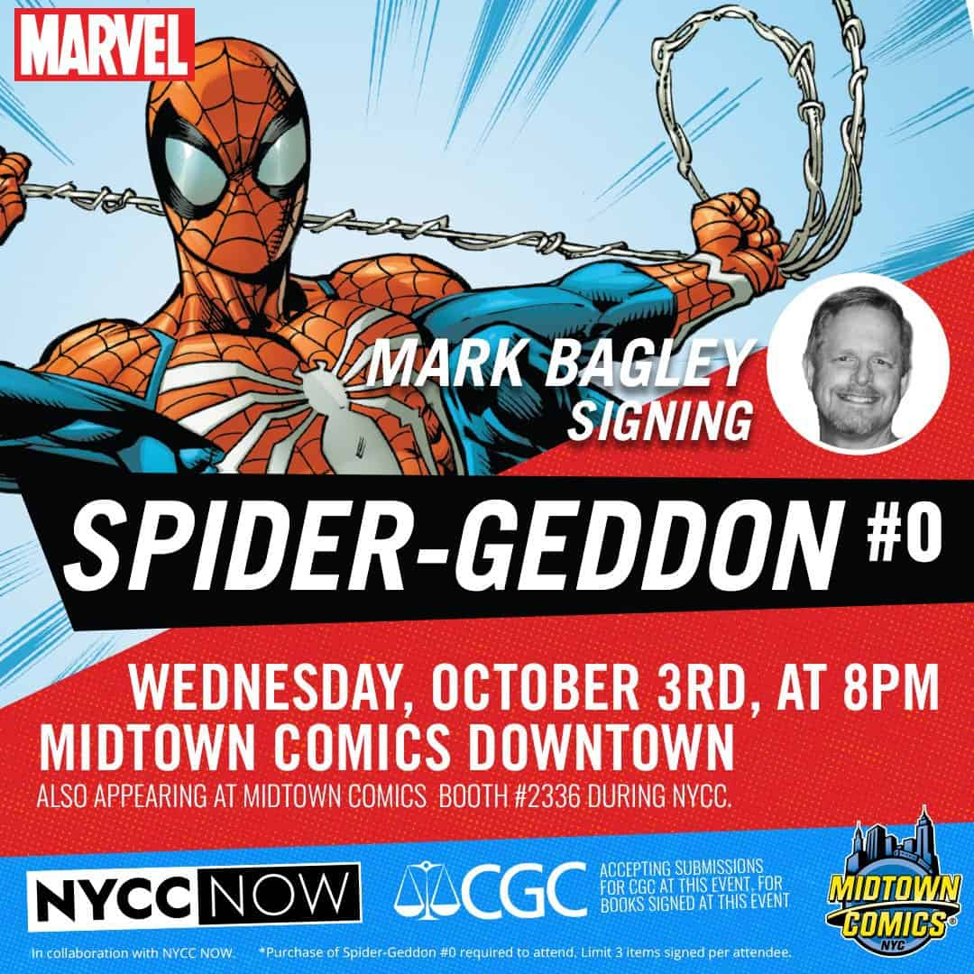 Free Comic Book Day October 2018: NYC - Spider-Geddon #0 Signing