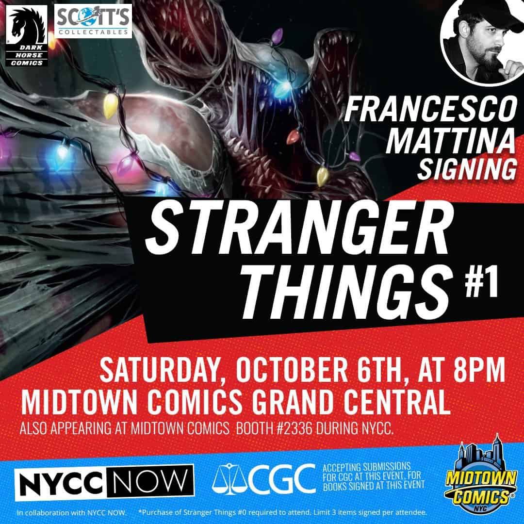 Free Comic Book Day October 2018: NYC - Stranger Things #1 Signing
