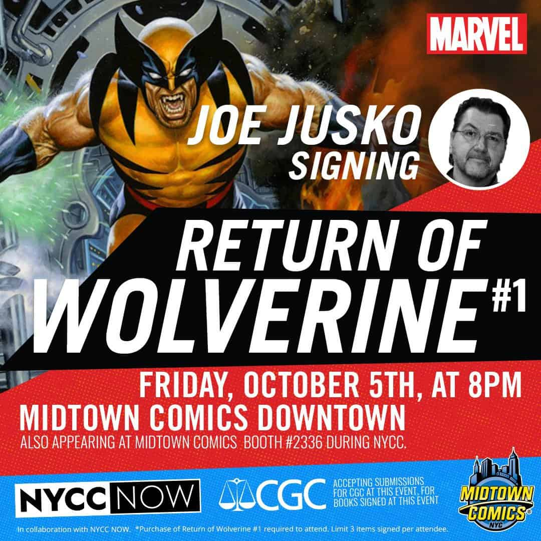 Free Comic Book Day October 2018: NYC – Return Of Wolverine #1 Signing