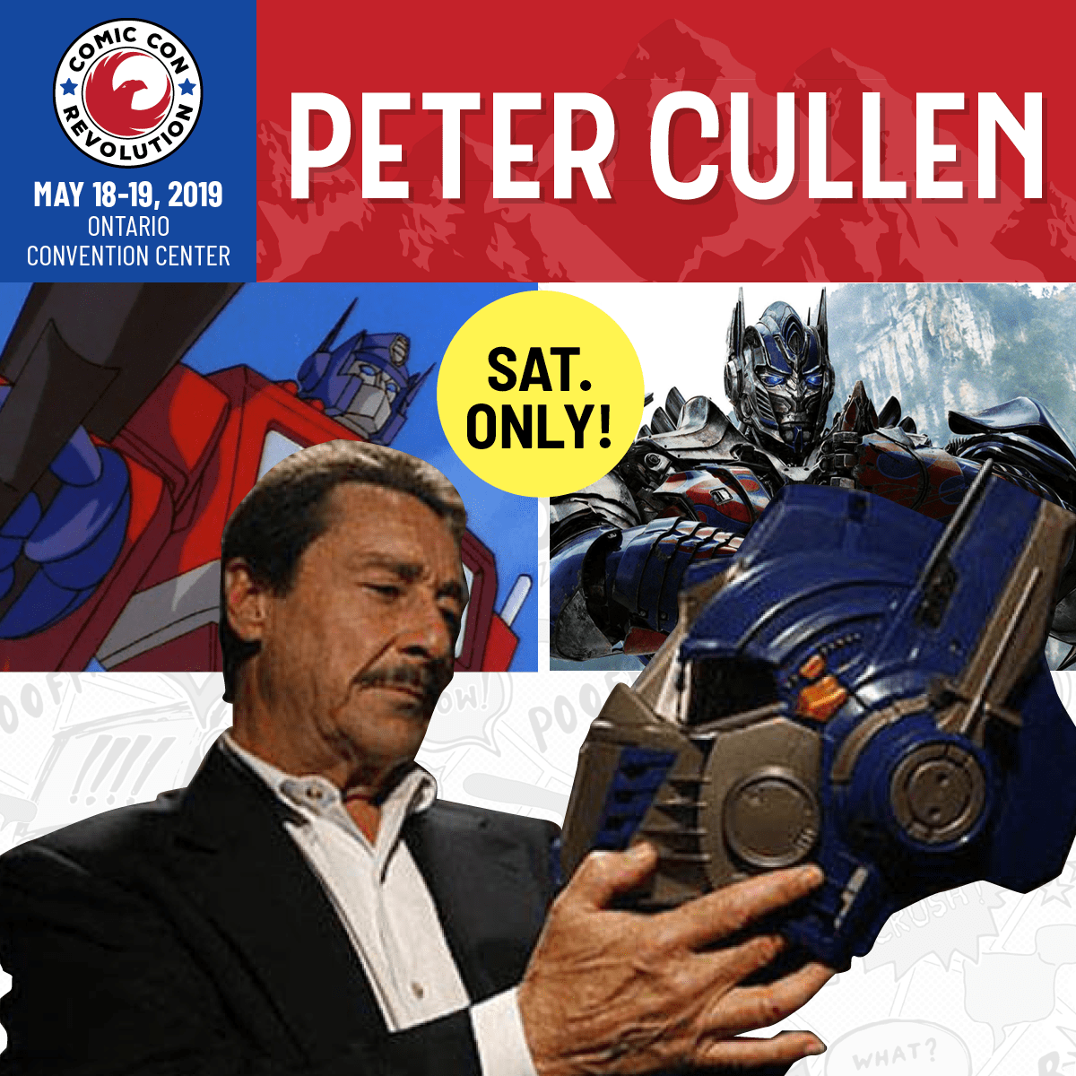 Free Comic Book Day 2018 Krypton: Peter Cullen, Iconic Voice Of Optimus Prime, Rolls Out To
