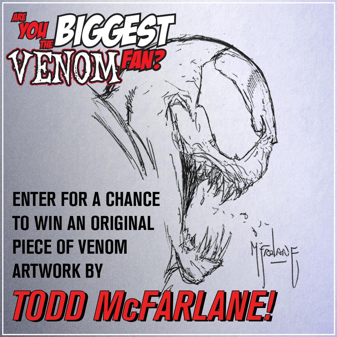 Win Original Venom Artwork From Todd Mcfarlane Convention Scene