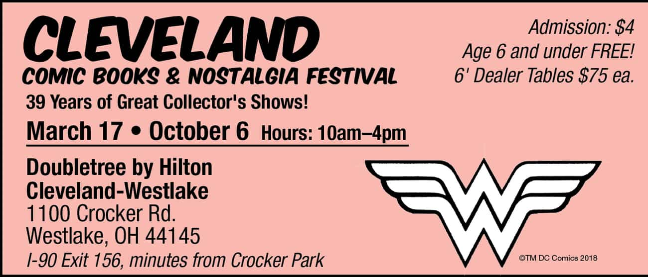 Cleveland Comic Book and Nostalgia Festival (October 2019