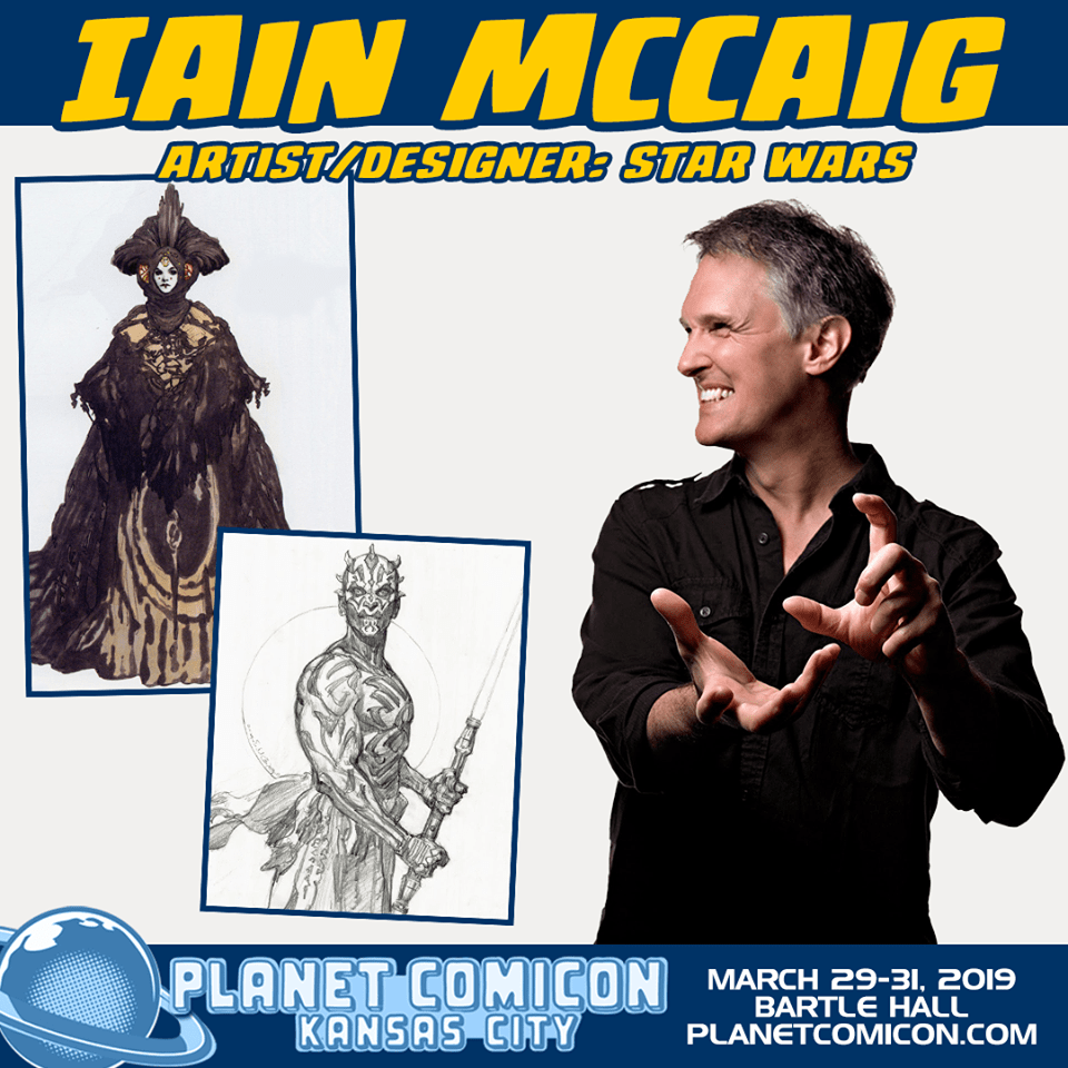 Free Comic Book Day Kansas City: Artist Iain McCaig Appears At Planet Comicon 2019