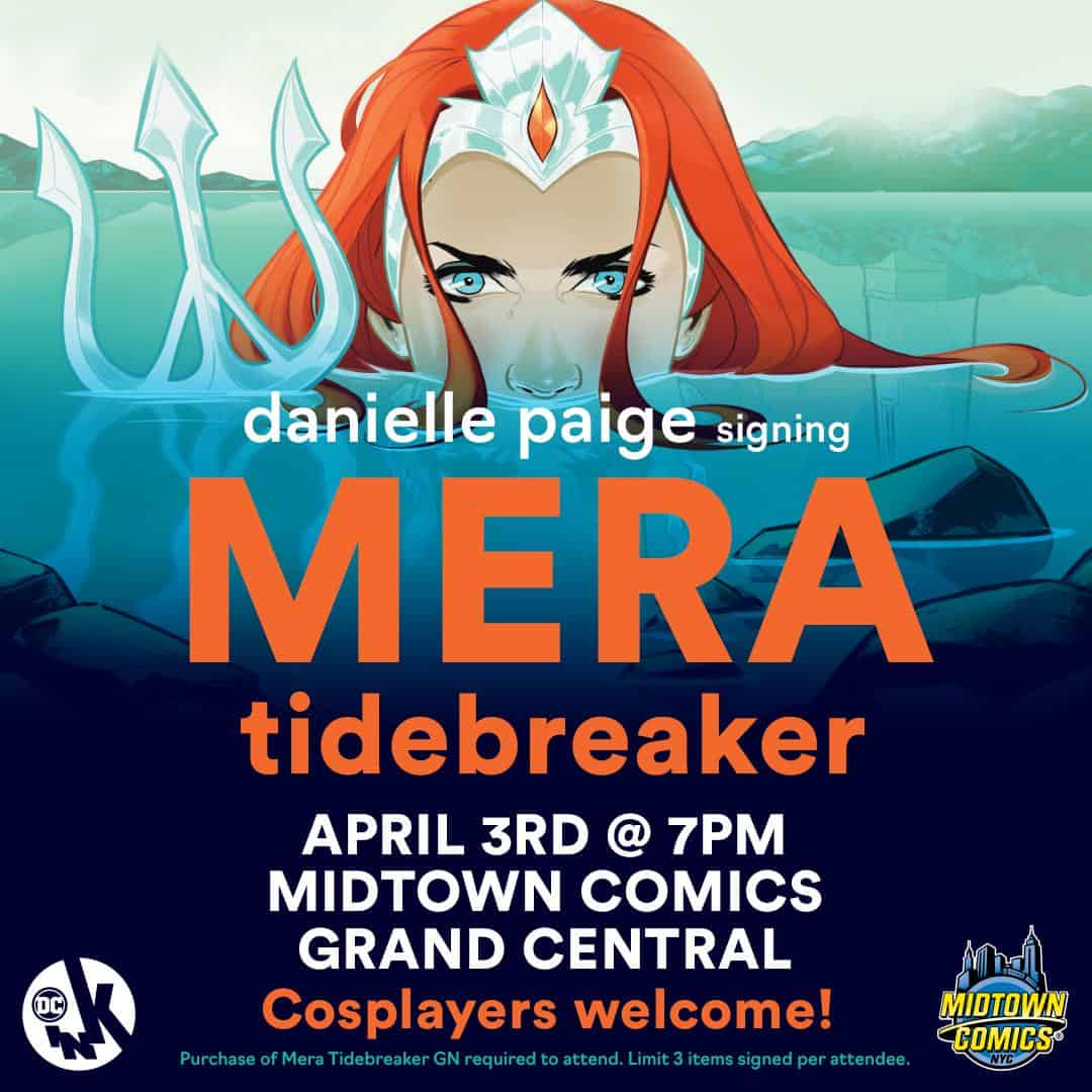 Free Comic Book Day France: NYC – Mera: Tidebreaker Signing