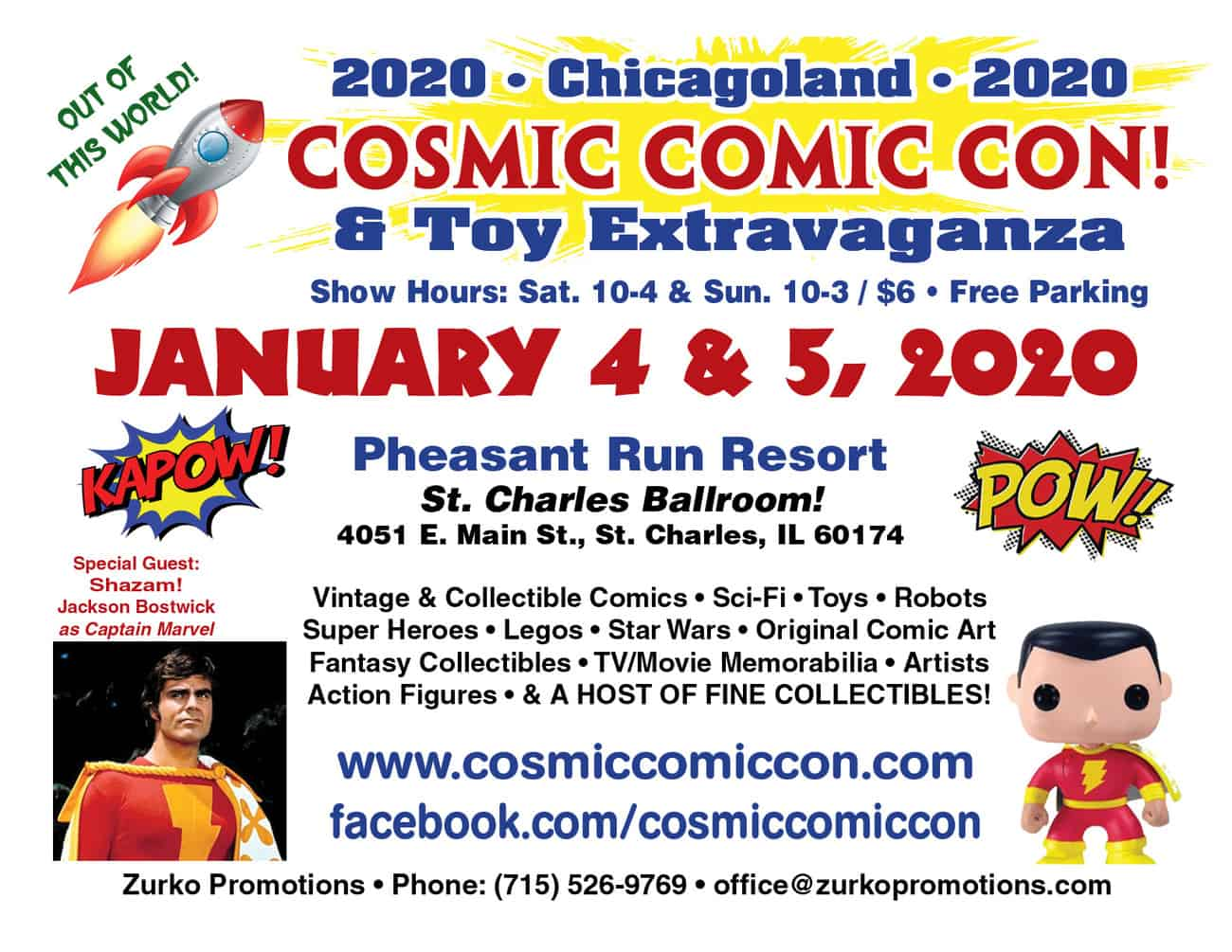 New Jersey Comic Con 2020 Cosmic Comic Con (January 2020) | Convention Scene
