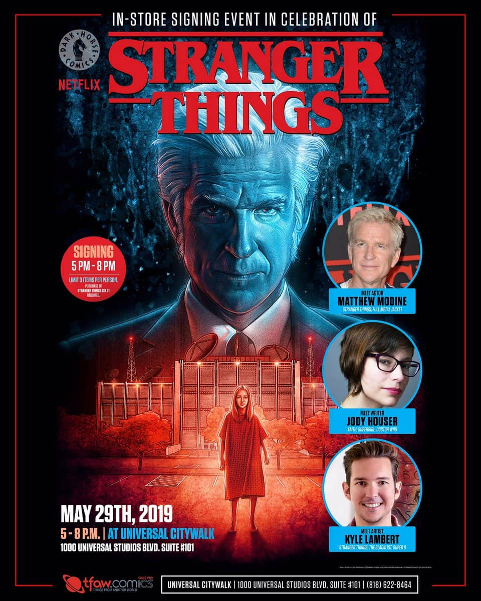 Free Comic Book Day France: CA - Stranger Things: Six Signing