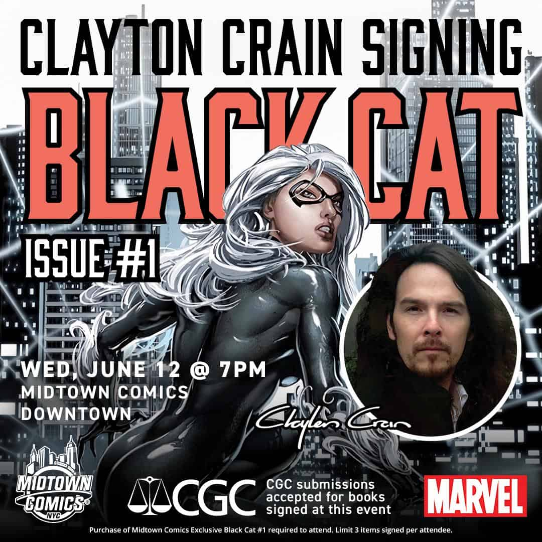 Free Comic Book Day France: NYC - Black Cat #1 Variant Signing