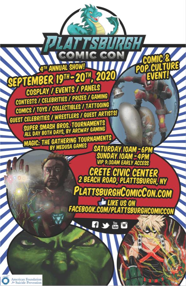 Plattsburgh Comic Con flyer