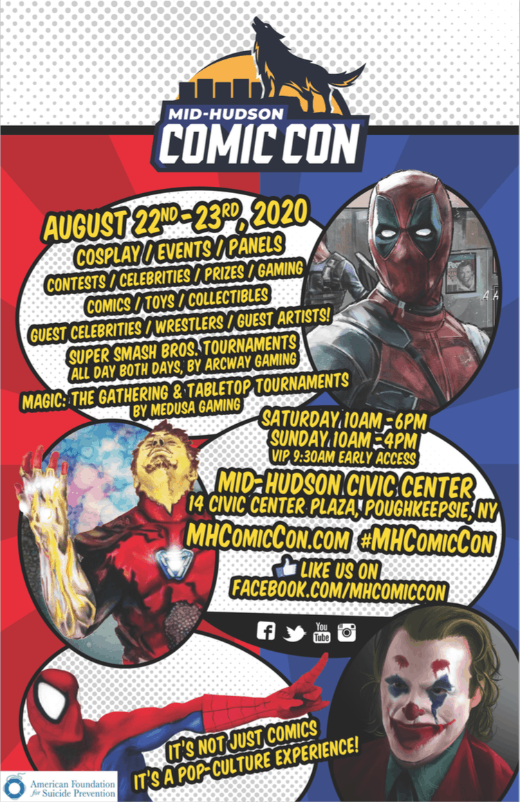 Mid Hudson Comic Con flyer