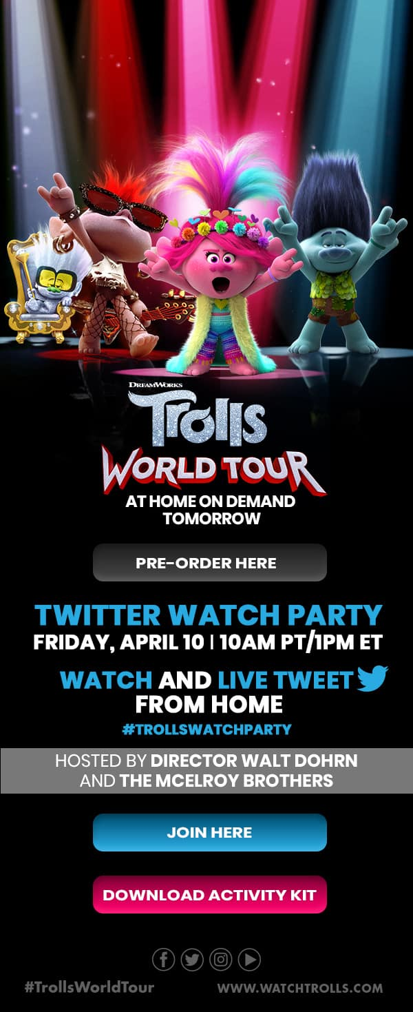 Troll World Tour Watch Party