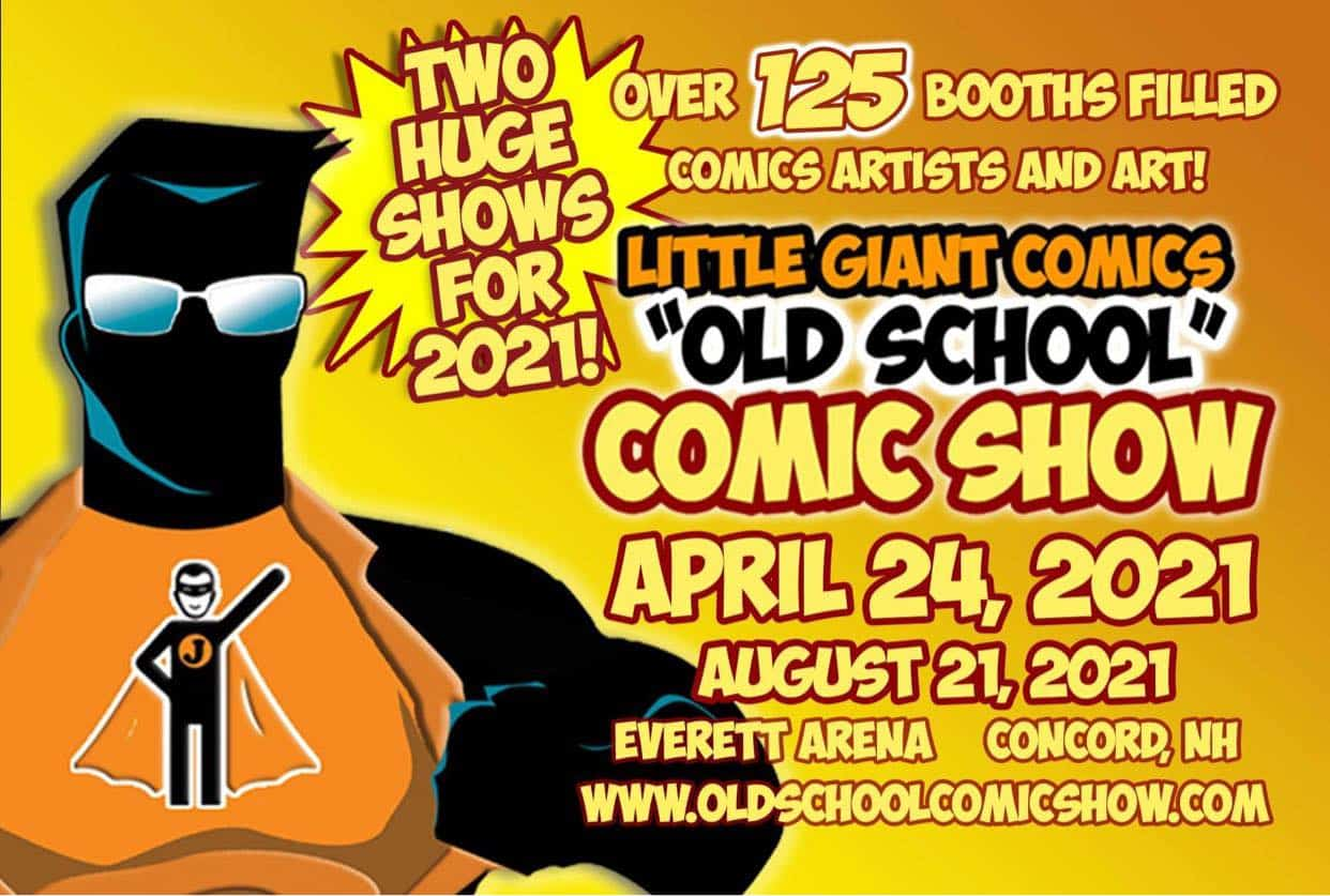 Little Giant Comics Old School Comic Show FLYER