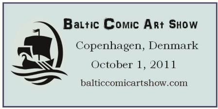 Baltic Comic Art Show banner