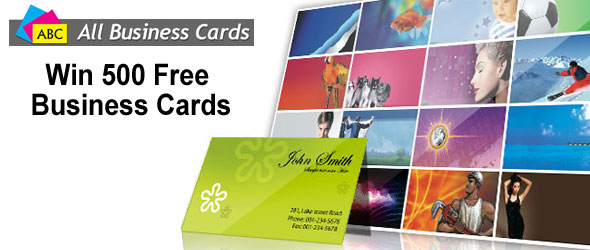 Win 500 Free Business Cards from All Business Cards and Convention Scene