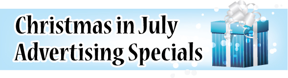 Christmas In July Advertising Specials