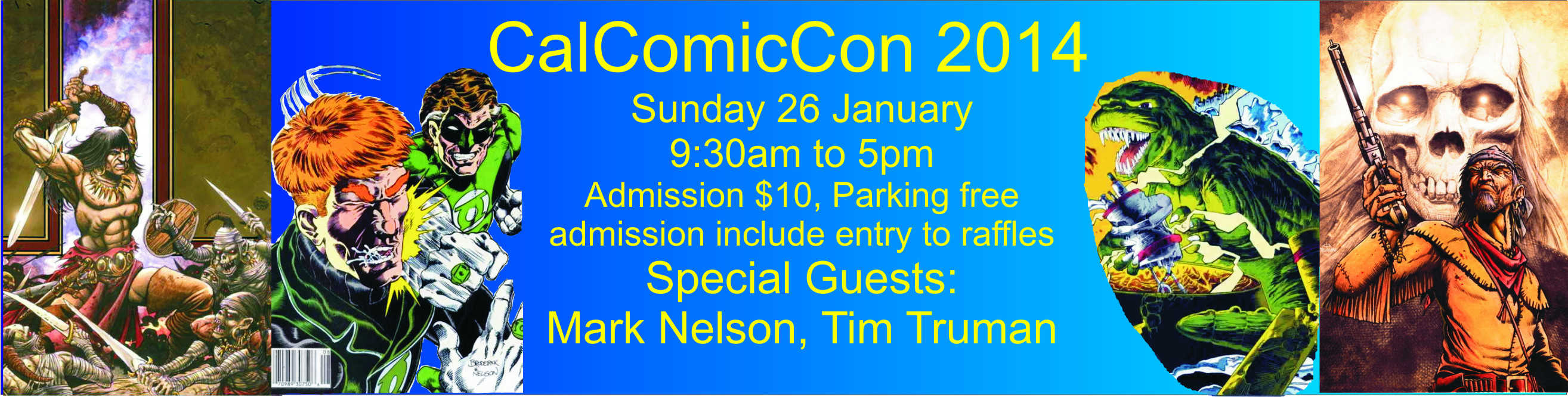 California Comic Convention Banner
