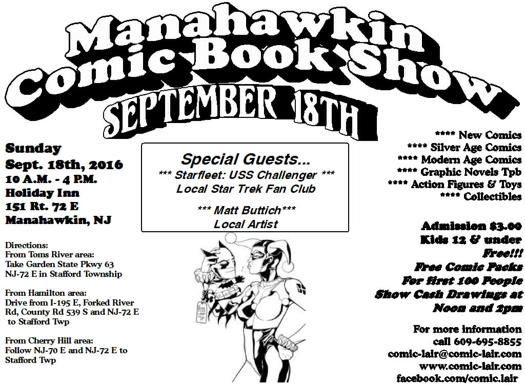 Manahawkin Comic Book Show